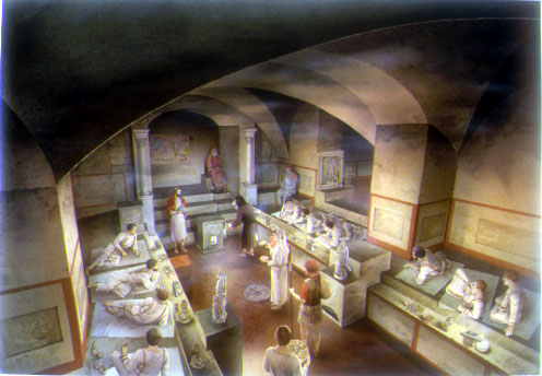 Disegno Ricostruttivo della cerimonia Mitraica