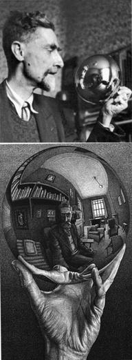 Escher, Autorretrato en espejo esférico