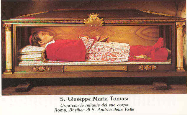 Giuseppe Maria Tomasi cuerpo incorrupto