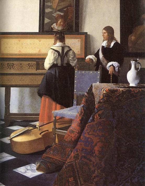 La lección de Música (Vermeer) Colección de Isabel II (Buckinham Palace-London)