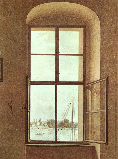 pearls-and-empty-rooms  View from the Painter's Studio 1818 Caspar David Friedrich
