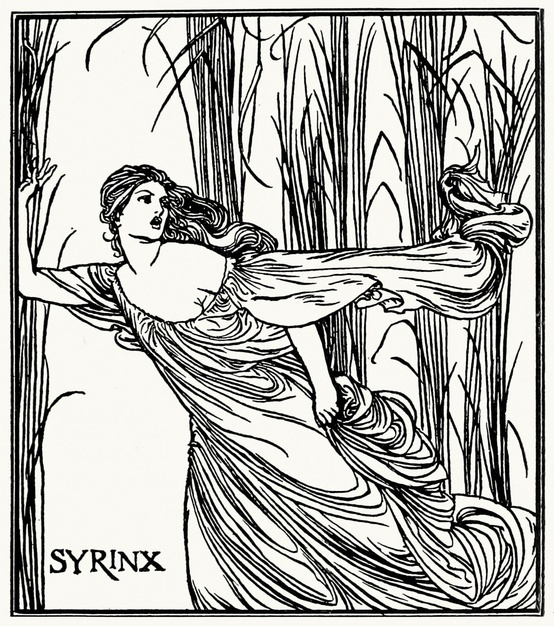 Syrinx. Robert Anning Bell, from Poems by John Keats, London, New York, 1897.