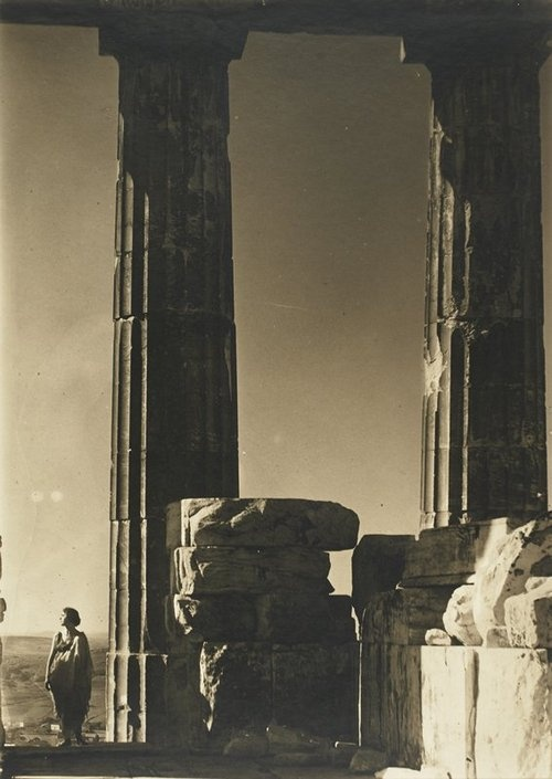 Isadora Duncan at the Parthenon, 1921