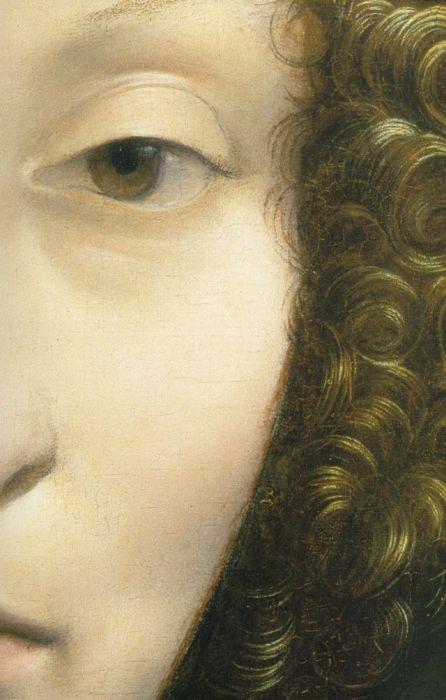 Leonardo da Vinci, Portrait of Ginevra Benci (Face Detail)