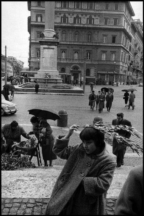 ITALY. Rome. 1958. Palm Sunday at Santa Maria Maggiore church.