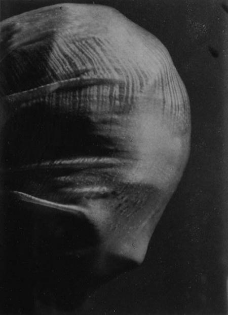 Josef Sudek - Profile of a veiled head, 1942.