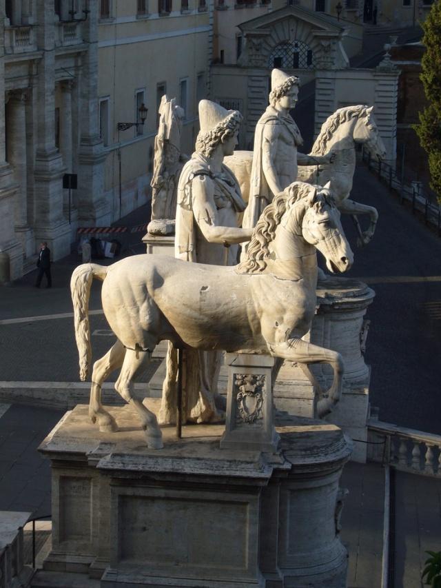Dioscuri ° Roman statues that were placed in Piazza del Campidoglio (Rome) in 1585
