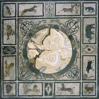 mosaico casa tablinum