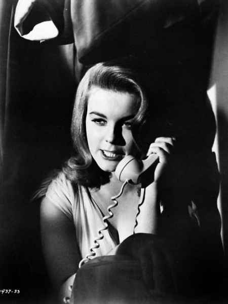 Ann-Margret on the vintage telephone