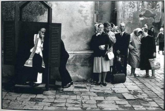 Confessions - Sicily, Italy By Elliott Erwitt