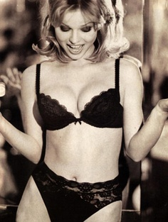 Eva Herzigova in the Wonderbra