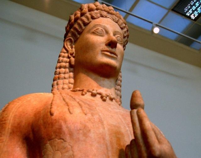 Kore Phrasikleia by Ariston of Paros, lifesize, c. 550 B.C. National Archaeological Museum, Athens
