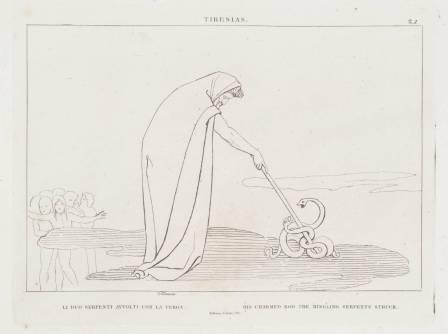 Tiresias 1807 by John Flaxman 1755-1826