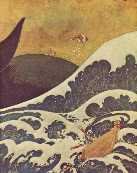 Sinbad the Sailor illustrated by Edmund Dulac.