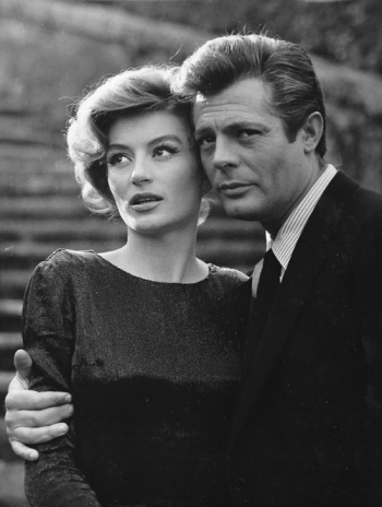 Marcello Mastroianni and Anouk Aimée - La Dolce Vita (Federico Fellini, 1960)