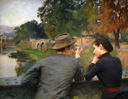 """Emile Friant  """"Les Amoureux"""" (1888)"""