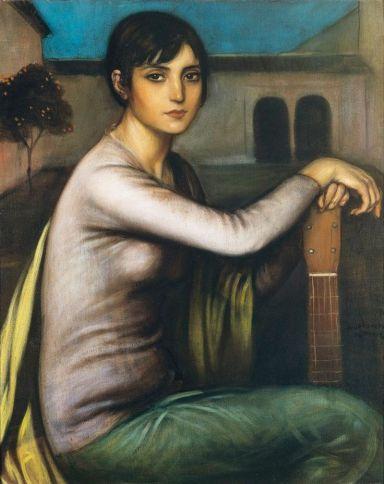 Julio Romero de Torres (1874-1930)_spanish_Symbolism. Tristeza andaluza (Andalusian Melancholy).