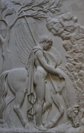 Julius Troschel (German, 1806-1863), Bellerophon and Pegasus, c.1840-50. Neue Pinakothek, Munich.