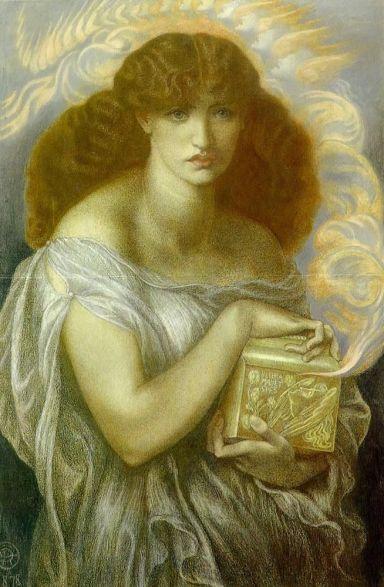 Pandora Dante Gabriel Rossetti, 1879