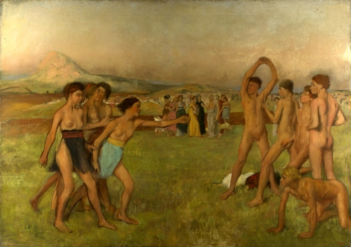 Degas, Edgar 1834-1917 Esercizi di giovani spartani 1860