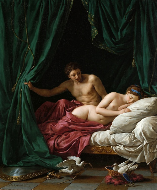 Louis Jean François Lagrenée - Mars and Venus, Allegory of Peace, 1770