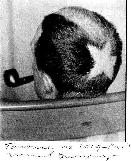 MAN RAY Cabeza tonsurada de Marcel Duchamp