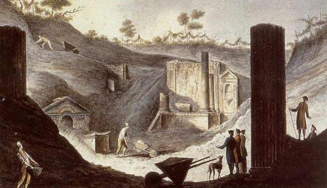 Pietro_Fabris_-_Ausgrabung_des_Isis-Tempels_in_Pompeji ca 1740 1792