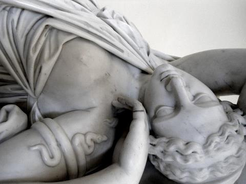 Sleeping Ariadne, detail, by Paolo Andrea Triscornia (1757—1833), State Hermitage Museum