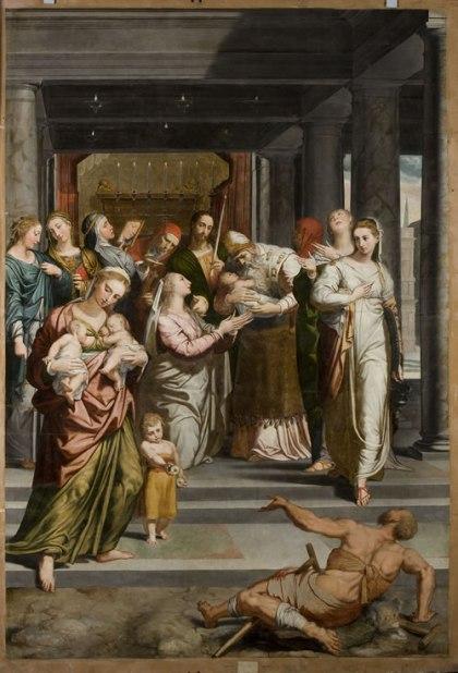 retablo_restaurado pedro de campaña, purificación de la virgen
