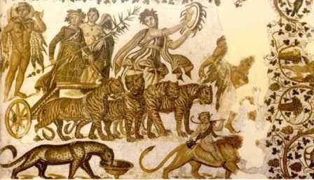 Roman Mosaic. Triumph of Bacchus. Sousse, Tunisia.
