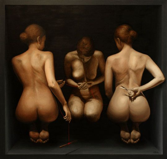 Saatchi Online Artist  Sampo Kaikkonen; Oil, Painting Three Fates