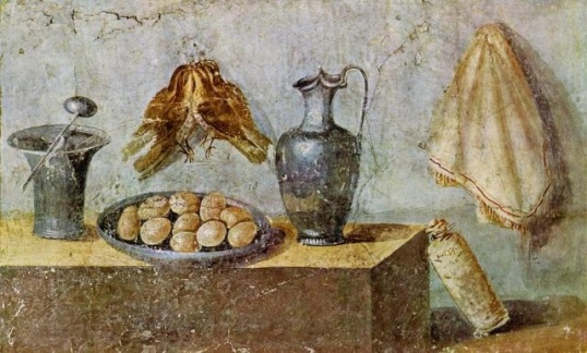 Still life from the House of Julia Felix, early first century AD, Pompeii, Italy