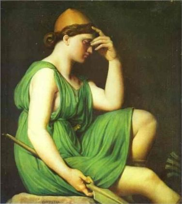 Odysseus. Study for the Triumph of Homer - Jean Auguste Dominique Ingres