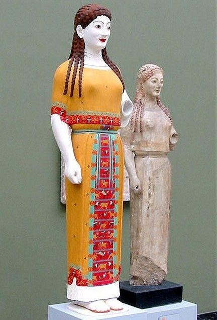 120. Koré del Peplo. 530 a.C.--