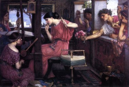 Penelope and the Suitors; 1912; John William Waterhouse