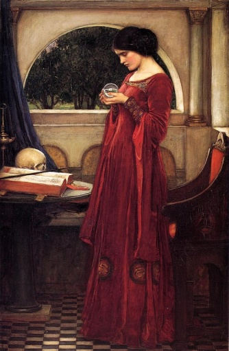 LA BOLA DE CRISTAL (John William Waterhouse, 1902)