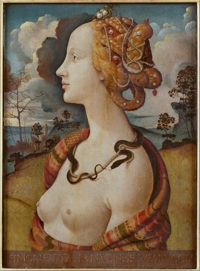 Piero di Cosimo  Ritratto di Simonetta Vespucci c.1490) Musée Condé in Chantilly, France.