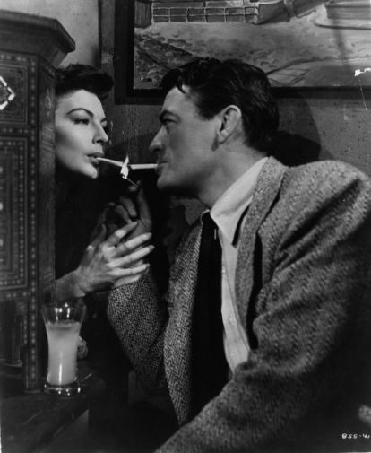 Ava Gardner and Gregory Peck in The Snows of Kilimanjaro (Henry King, 1952)