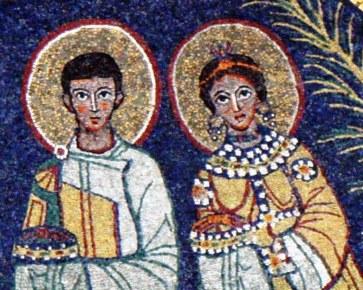 cecilia-valeriano-mosaico-six-santa-cecilia-en-trastevere-roma