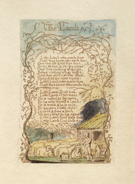 William_Blake_-_Songs_of_Innocence_and_Experience_-_The_Lamb