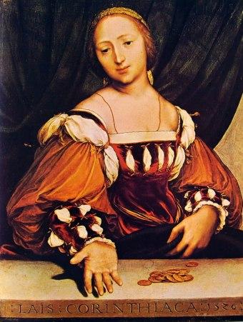 19 Holbein - Laide di Corinto