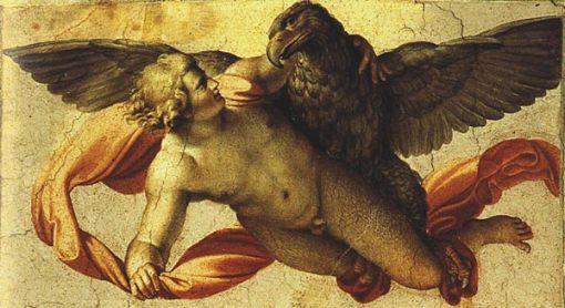 Anibale Carracci, h.1600, Pintura al aire libre, el Palazzo Farnese en el Roma
