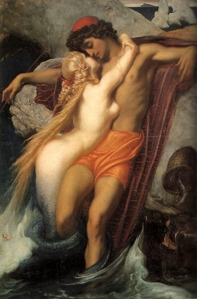 Frederic, Lord Leighton. The Fisherman and The Siren