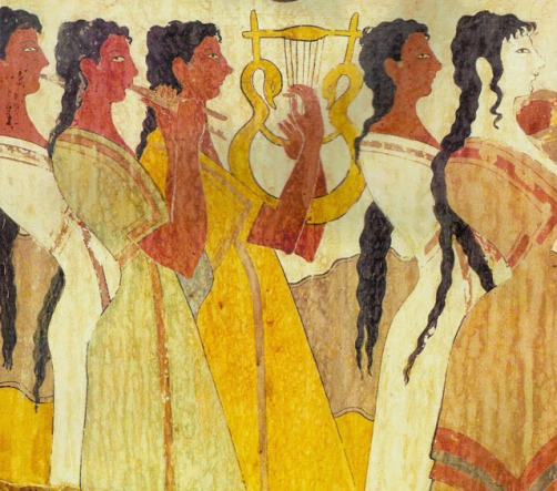 LVDS CNOSOS12 procesion de sacerdotisas, Cnosos