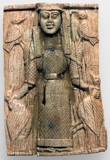 Artemisa Orthia de una placa de marfil, ex-voto encontrado en su santuario de Esparta.