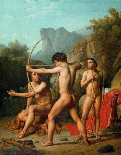 Christopffer Wilhelm Eckersberg (Dutchy of Schleswig 1783-1853 Copenhagen), Three Spartan boys