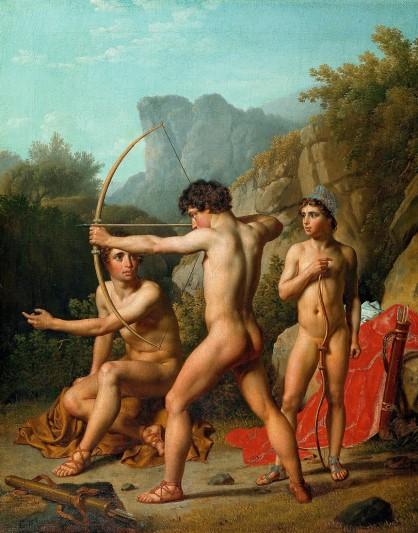 Christopffer Wilhelm Eckersberg (Dutchy of Schleswig 1783-1853 Copenhagen), Three Spartan boys