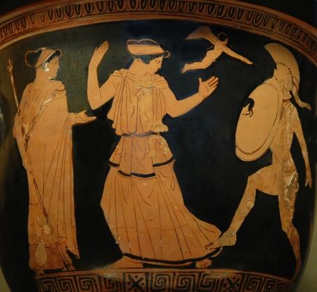 Menelao suelta la espada al ver la belleza de Helena Helen_Menelaus_Louvre_G424