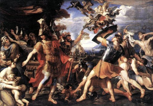 PERRIER, Franois - Aeneas and his Companions Fighting the Harpie