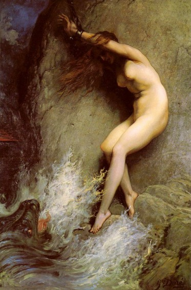 andromeda-chained-to-a-rock-by-gustave-dore